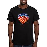 American Hot Air Balloon Men's Fitted T-Shirt (dar