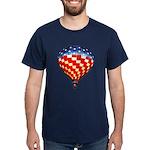 American Hot Air Balloon Dark T-Shirt