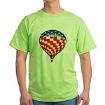 American Hot Air Balloon Green T-Shirt