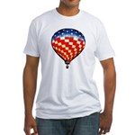 American Hot Air Balloon Fitted T-Shirt