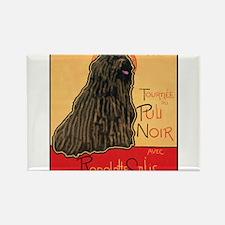 Tournee du Puli Noir Rectangle Magnet
