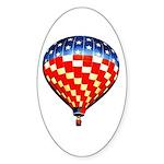 American Hot Air Balloon Sticker (Oval)