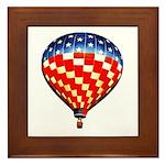 American Hot Air Balloon Framed Tile
