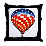 American Hot Air Balloon Throw Pillow