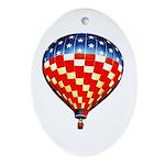 American Hot Air Balloon Ornament (Oval)