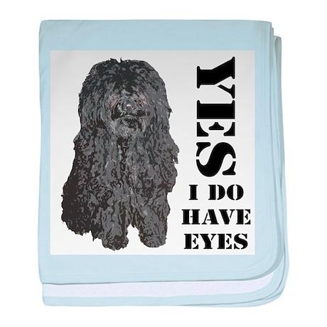 Puli : Yes I Do Have Eyes baby blanket