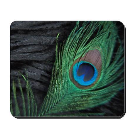 Black Velvet Peacock Mousepad