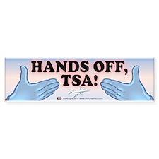 TSA Hands Off 1 Bumper Sticker