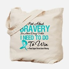 Ovarian Cancer Bravery Tote Bag