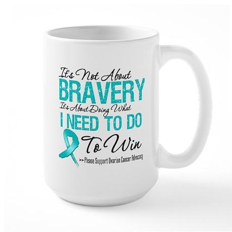 Ovarian Cancer Bravery Large Mug