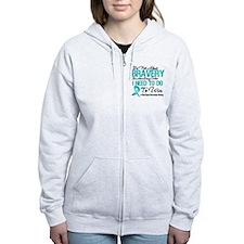Ovarian Cancer Bravery Zip Hoodie