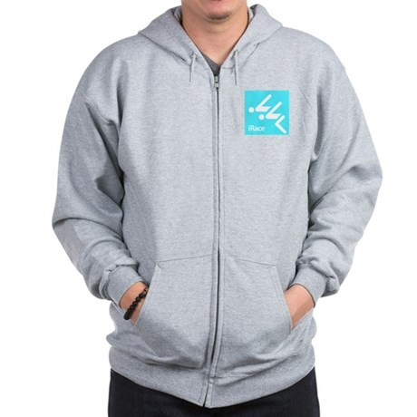 Competitive Swimming iRace Silhouette Zip Hoodie