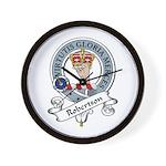 Robertson Clan Badge Wall Clock