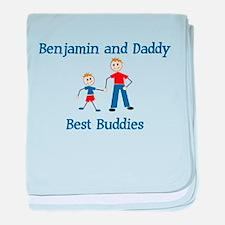 Benjamin & Daddy - Best Buddi baby blanket