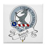 Riddell Clan Badge Tile Coaster