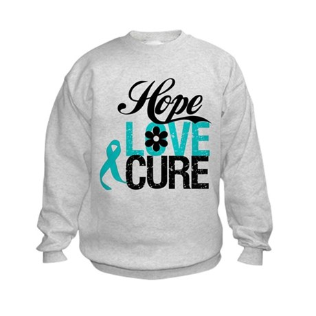 OvarianCancer HopeLoveCure Kids Sweatshirt