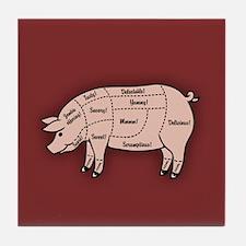 Pork Cuts 1 Tile Coaster