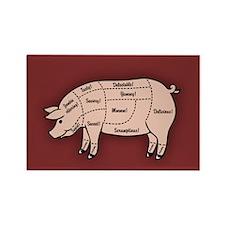 Pork Cuts 1 Rectangle Magnet (100 pack)