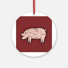Pork Cuts 1 Ornament (Round)