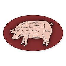 Pork Cuts 1 Decal