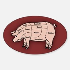 Pork Cuts 1 Decal
