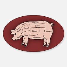 Pork Cuts 1 Sticker (Oval)