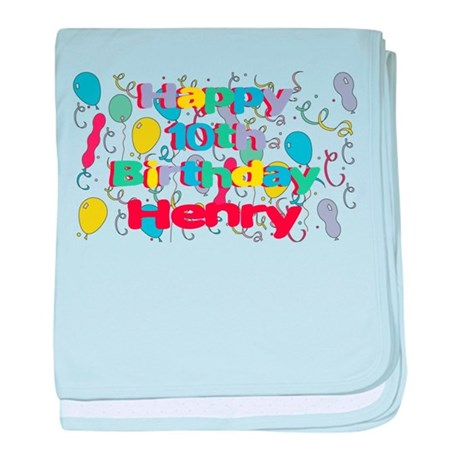 Happy Birthday Henry baby blanket