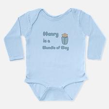 Henry is a Bundle of Boy Long Sleeve Infant Bodysu