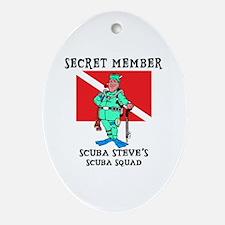 SCUBA Steve Oval Ornament