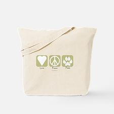 Unique Peace love paws Tote Bag