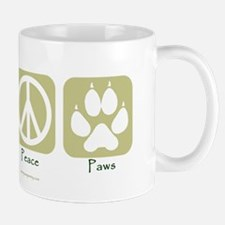 Cute Peace love paws Mug