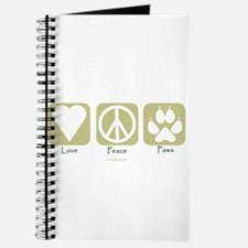 Funny Peace love paws Journal