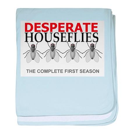 Desperate Houseflies baby blanket