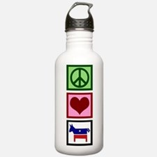 Peace Love Democrat Water Bottle