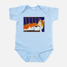 Orange Coffee Cat Infant Creeper