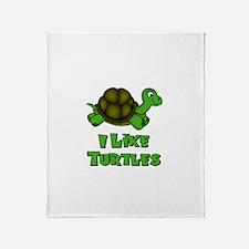 I Like Turtles Throw Blanket