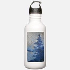 Stainless Water Bottle with Blue Pine 1.0L