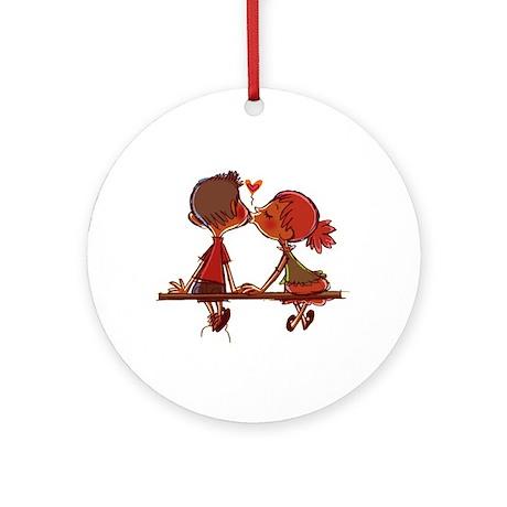 Kiss Ornament (Round)