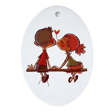 Kiss Ornament (Oval)