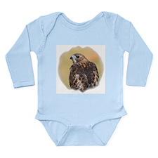 Red Tail Hawk Long Sleeve Infant Bodysuit