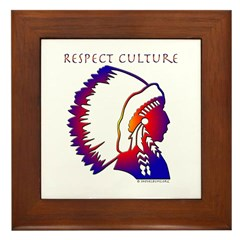 Respect Culture - Native American Indians Framed T
