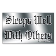 Sleeps Well With Others Rectangle Decal