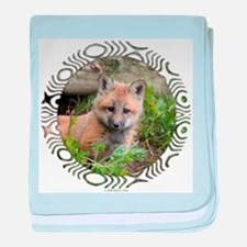 Red Fox Kit baby blanket