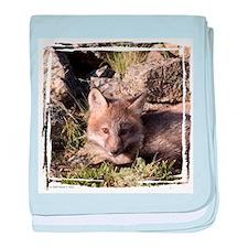 Cross Fox Kit baby blanket