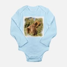 Grizzly Bear Long Sleeve Infant Bodysuit