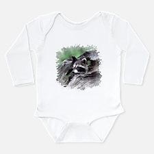 Raccoon Long Sleeve Infant Bodysuit