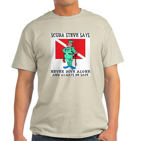 SCUBA Steve Ash Grey T-Shirt