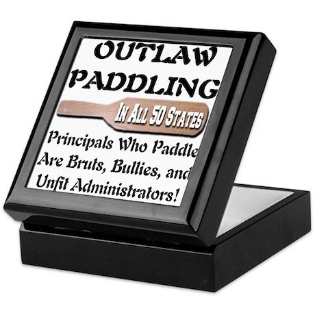 Outlaw Corporal Punishment Keepsake Box