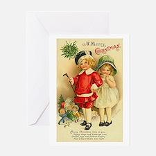 Vintage Christmas Art Greeting Card