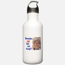 real hope and change Water Bottle